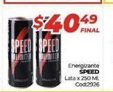 Oferta de Energizante Speed lata x 250ml  por $40,49