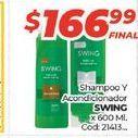 Oferta de Shampooy acondicionador SWING x 600ml  por $166,99