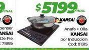 Oferta de Anafe + olla KANSAI por induccion  por $5199
