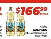 Oferta de Aceite Cocinero 1,5lt por $166,99