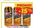 Oferta de Cerveza Miller lata x 473ml  por