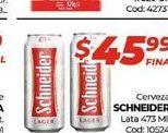Oferta de Cerveza Schneider lata x 473ml  por $45,99