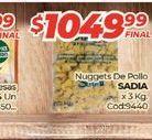 Oferta de Nuggets de pollo Sadia X 3KG por $1049,99