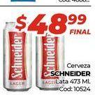Oferta de Cerveza Schneider lata 473ml  por $48,99