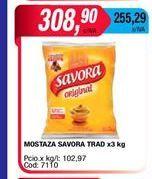 Oferta de Mostaza Savora x 3kg por $308,9