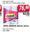 Oferta de Papel higiénico Esencial x 30mt  por $76,9