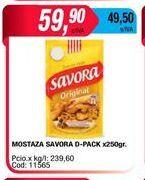 Oferta de Mostaza Savora x 250gr por $59,9