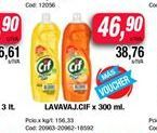 Oferta de  lavavajillas Cif x 300ml  por $46,9