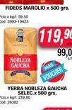 Oferta de Yerba nobleza gaucha selec. x 500grs  por $119,9
