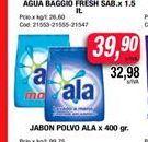 Oferta de Jabon en polvo Ala x 400gr  por $39,9