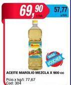 Oferta de Aceite Marolio mezcla x 900cc por $69,9