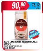 Oferta de Cafe La Morenita molido clasico x 250grs  por $90,9