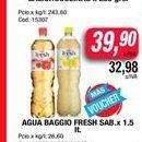 Oferta de Agua baggio fresh sab. x 1,5lt  por $39,9
