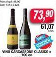 Oferta de Vino Carcassonne clasico x 700cc por $73,9