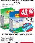 Oferta de Leche Marolio l/vida x 1lt  por $48,9