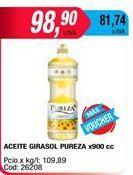 Oferta de Aceite de girasol Pureza x 900cc por $98,9