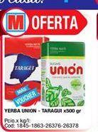 Oferta de Yerba union Taraguí x 500grs  por