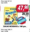 Oferta de Cacao Nesquik x 180grs  por $47,9