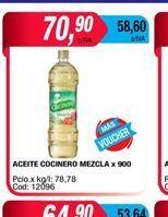 Oferta de Aceite Cocinero mexcla x 900cc por $70,9