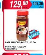 Oferta de Cafe Marolio inst x 100gr  por $129,9