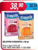 Oferta de Gelatina Exquisitax 40grs  por $38,9