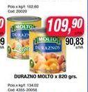 Oferta de Duraznos Molto x 820gr  por $109,9
