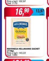 Oferta de Mayonesa Hellmann's sachet x 118gr  por $16,9
