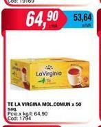 Oferta de Té La Virginia x 50saq por $64,9