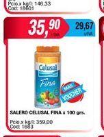 Oferta de Salero CELUSAL fina x 100grs por $35,9
