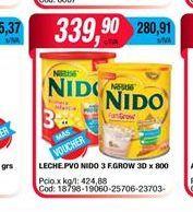 Oferta de Leche en polvo Nido 3 F.Grow 30x800 por $339,9