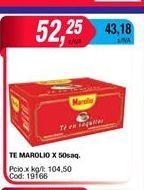 Oferta de Te MAROLIO X 50saq por $52,25