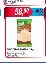 Oferta de Puré de papas Knorr x 125gr  por $58,9