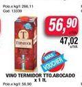Oferta de Vino Termidor tto.abocado x 1lt  por $56,9