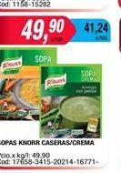 Oferta de Sopa Knorr caseras/crema por $49,9