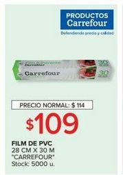 Oferta de Film de pvc 28cm x 30mt CARREFOUR  por $109