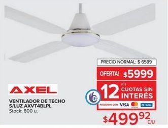 Oferta de Ventilador de techo Axel  por $499,92