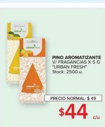 Oferta de Pino aromatizante v/fragancias x 5g urban fresh  por $44