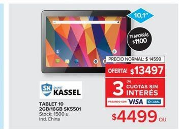 Oferta de Tablet 10 2gb  por $4499