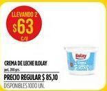 Oferta de Crema de leche Ilolay por $63