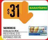 Oferta de Salchichas 66 por $31