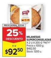 Oferta de Milanesas Paty por $92,5
