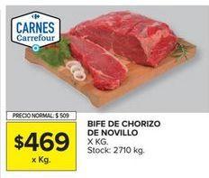 Oferta de Bife de chorizo de novillo por $469