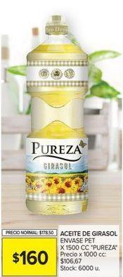 Oferta de Aceite de girasol Pureza por $160