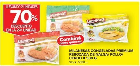 Oferta de Milanesas congeladas premium rebozada por
