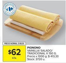 Oferta de Pionono Carrefour por $62