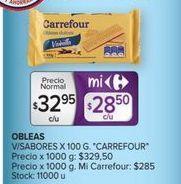 Oferta de Obleas Carrefour por $32,95