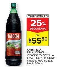 Oferta de Aperitivo sin alcohol Tacconi por $55,5