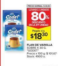 Oferta de Flan de vainilla Godet por $18,3