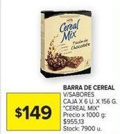 Oferta de Cereal en barra CerealMix por $149