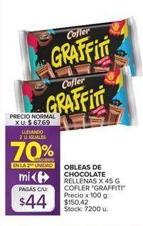 Oferta de Obleas Graffiti por $44